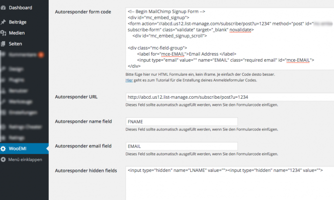 WP-EMI-wordpress-e-mail-subscribe-plugin-alle-Anbieter-via-html-eintrage-code