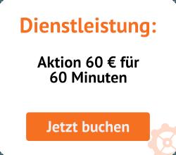Saleswonder Dienstleistung: Aktion 60 € für 60 Minuten