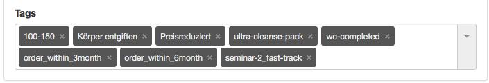 CRM ähnliche Daten zum Starten von E-Mail-Abfolgen (Klick-Tipp TAGs)